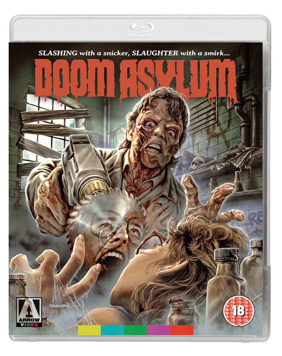 Brand new 2K restoration of DOOM ASYLUM – one of the most wildly entertainingly blood-spattered slashers of the late '80s! Blu-ray out 16th July from Arrow Video