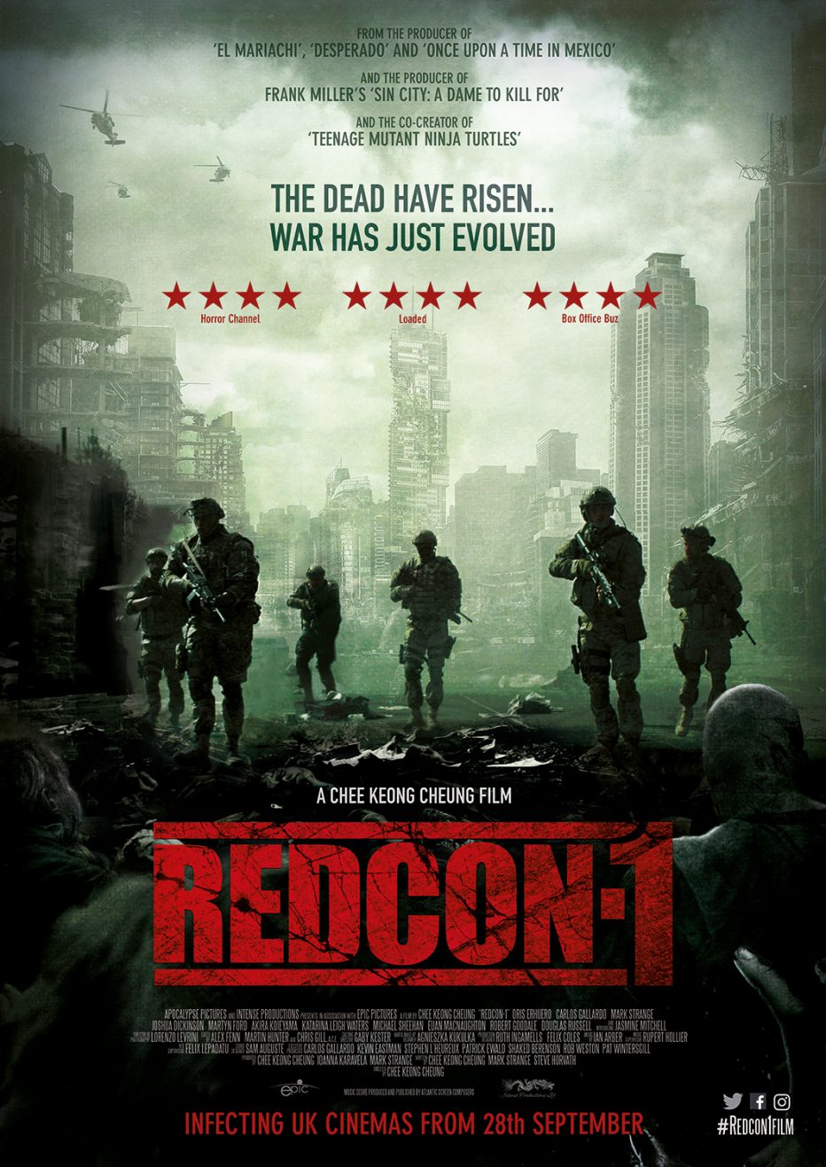 Official UK trailer & poster for the British zombie action epic Redcon-1 arriving in cinemas 28th September